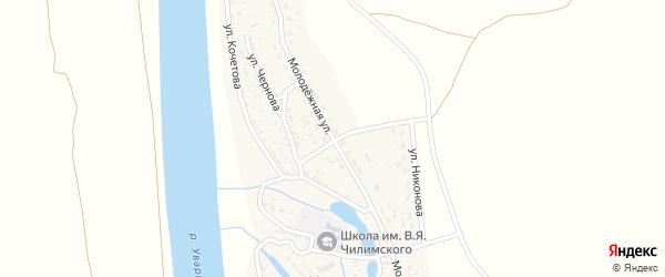 Молодежная улица на карте села Увары с номерами домов