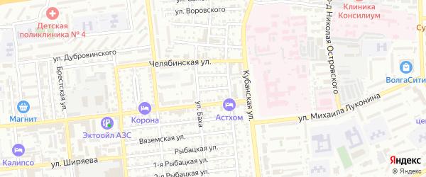 Таймырская улица на карте Астрахани с номерами домов
