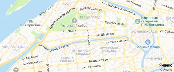 ГСК Автомобилистоблбыт на карте улицы Шаумяна с номерами домов