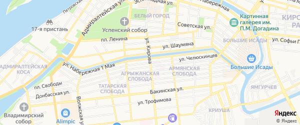 СТ Участок N6 Судоверфи им.Кирова на карте Астрахани с номерами домов