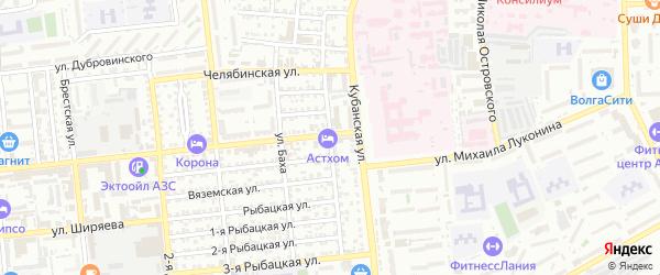 Костромская улица на карте Астрахани с номерами домов