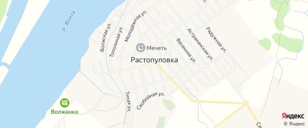 Сдт Строитель-1 на карте села Растопуловки с номерами домов