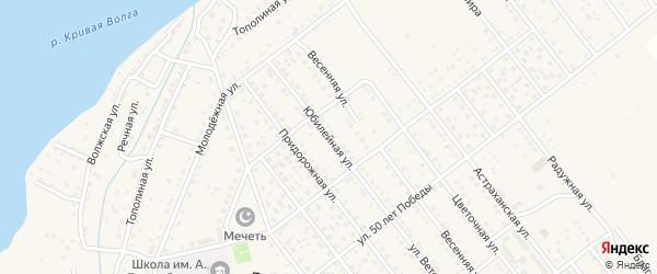 Юбилейная улица на карте села Растопуловки с номерами домов