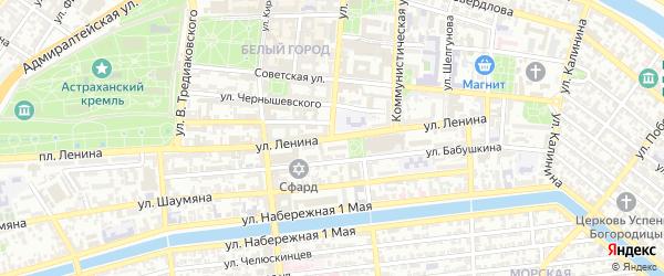 Улица Ленина на карте Астрахани с номерами домов