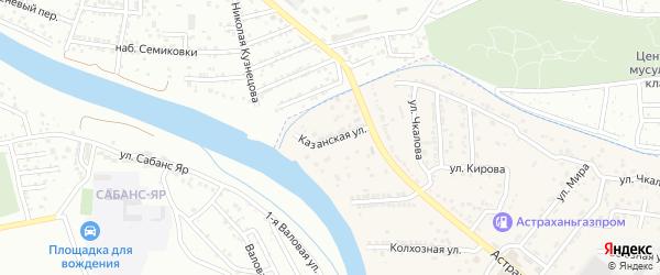 Казанская улица на карте села Осыпного Бугра с номерами домов