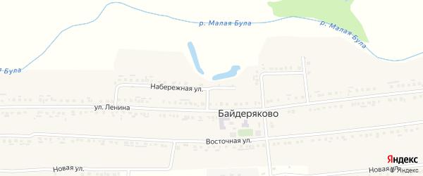 Набережная улица на карте села Байдеряково с номерами домов