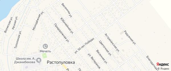 Весенняя улица на карте села Растопуловки с номерами домов
