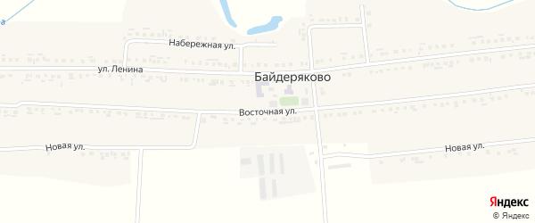 Восточная улица на карте села Байдеряково с номерами домов