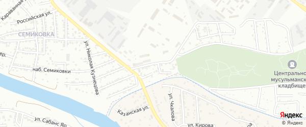 Малая улица на карте Астрахани с номерами домов