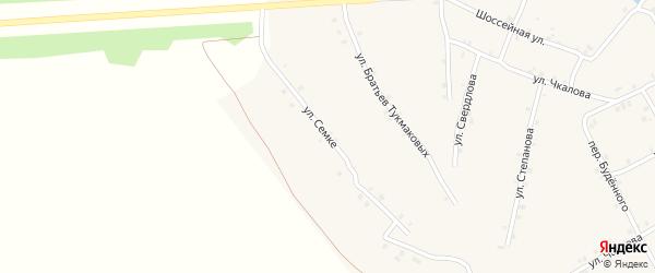 Улица Семке на карте села Ковали с номерами домов