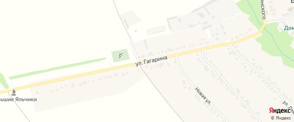 Улица Гагарина на карте села Большие Яльчики с номерами домов