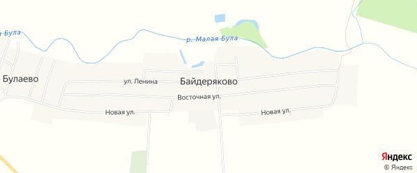Карта села Байдеряково в Чувашии с улицами и номерами домов