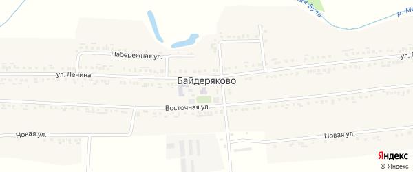 Новая улица на карте села Байдеряково с номерами домов