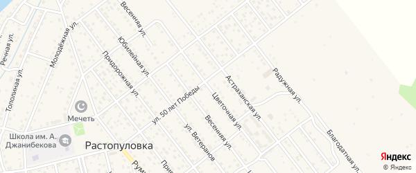 Цветочная улица на карте села Растопуловки с номерами домов