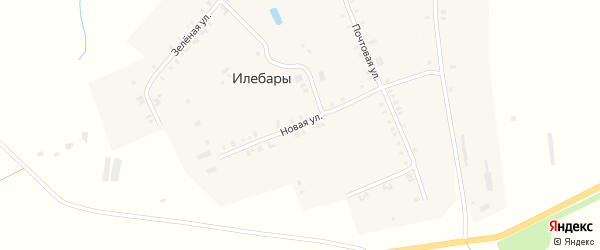 Новая улица на карте деревни Илебар с номерами домов