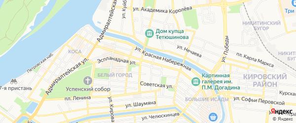Центральный ГСК на карте улицы Свердлова с номерами домов