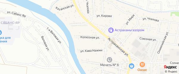 Колхозная улица на карте села Осыпного Бугра с номерами домов