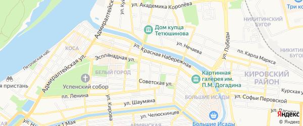 ГСК N45 на карте Эспланадная улицы с номерами домов