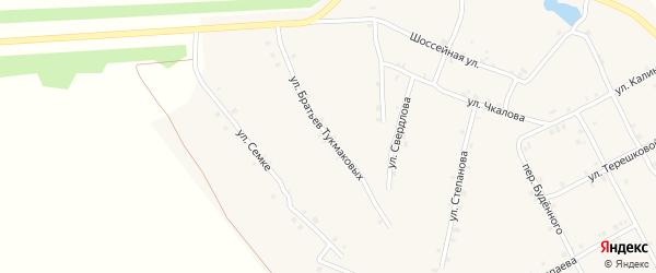 Улица Братьев Тукмаковых на карте села Ковали с номерами домов