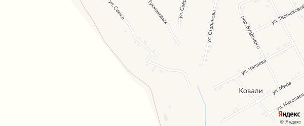 Улица Братьев Капитоновых на карте села Ковали с номерами домов
