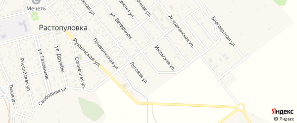 Песчаная улица на карте села Растопуловки с номерами домов