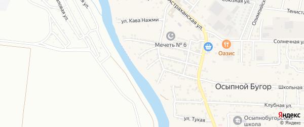 Царевский 1-й переулок на карте села Осыпного Бугра с номерами домов