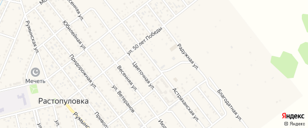Астраханская улица на карте села Растопуловки с номерами домов