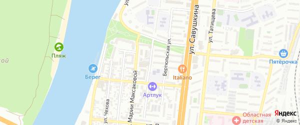 Бахтемирская улица на карте Астрахани с номерами домов