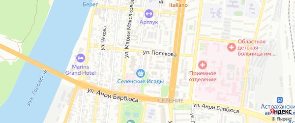 Покровская площадь на карте Астрахани с номерами домов