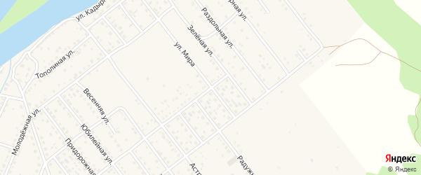 Улица Мира на карте села Растопуловки с номерами домов