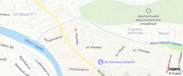 Улица Пушкина на карте села Осыпного Бугра с номерами домов
