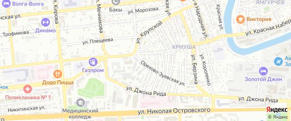 Карский переулок на карте Астрахани с номерами домов