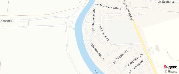 Набережная улица на карте села Осыпного Бугра с номерами домов