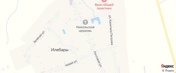 Почтовая улица на карте деревни Илебар с номерами домов