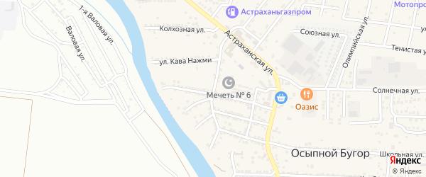Улица Чапаева на карте села Осыпного Бугра с номерами домов