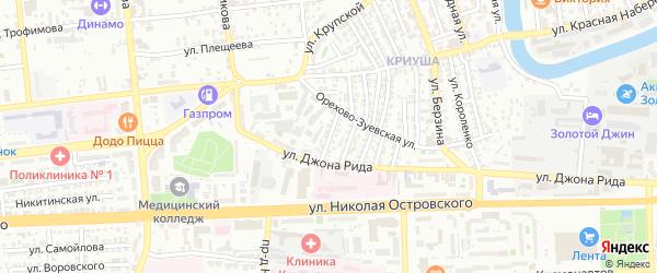 Улица Жуковского на карте Астрахани с номерами домов