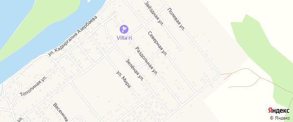 Раздольная улица на карте села Растопуловки с номерами домов