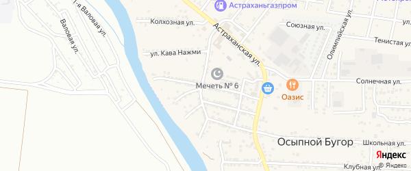 Улица Калинина на карте села Осыпного Бугра с номерами домов