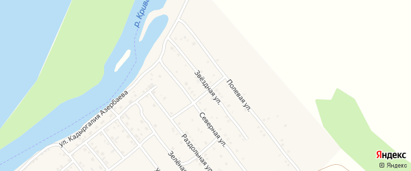 Звездная улица на карте села Растопуловки с номерами домов