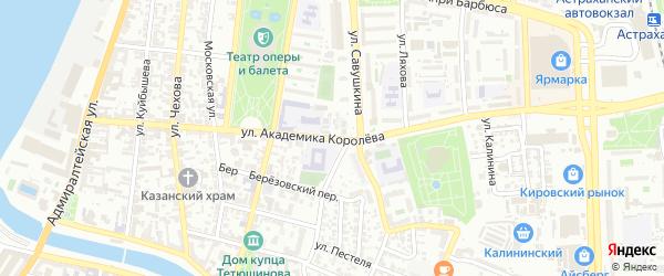 Улица Академика Королева на карте Астрахани с номерами домов