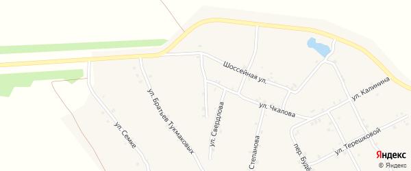 Улица Братьев Московкиных на карте села Ковали с номерами домов