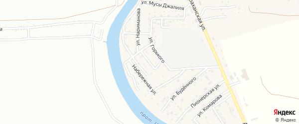 Улица Луконина на карте села Осыпного Бугра с номерами домов