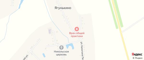Улица Капитана Петрова на карте деревни Ягунькино с номерами домов