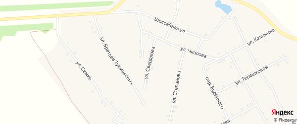 Улица Свердлова на карте села Ковали с номерами домов