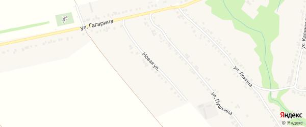 Новая улица на карте села Большие Яльчики с номерами домов