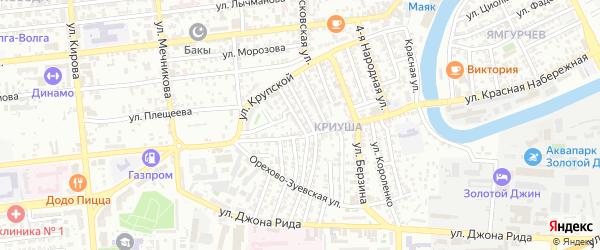 Улица Шекспира на карте Астрахани с номерами домов
