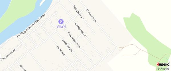 Северная улица на карте села Растопуловки с номерами домов