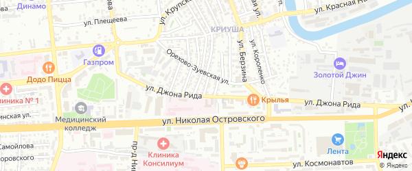 Черниговская улица на карте Астрахани с номерами домов