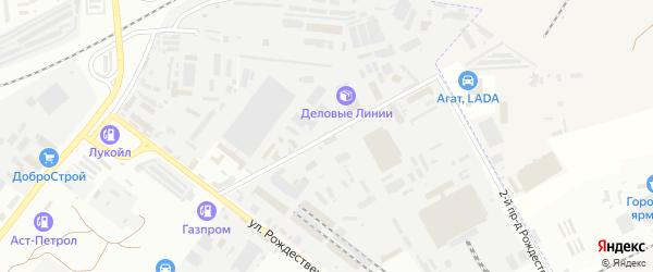 Рождественского 1-й проезд на карте Астрахани с номерами домов