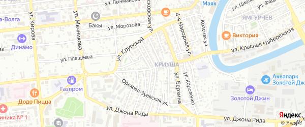 Улица Рубинштейна на карте Астрахани с номерами домов